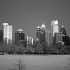 Midtown Winter Night from Piedmont Park BW