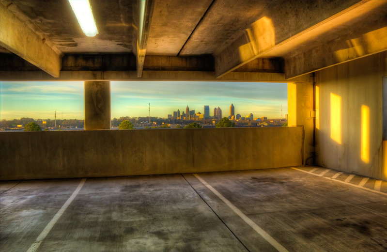 Atlanta Skyline from Lindbergh Station