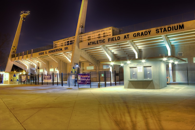 Grady Stadium at 10th & Monroe next to Piedmont Park