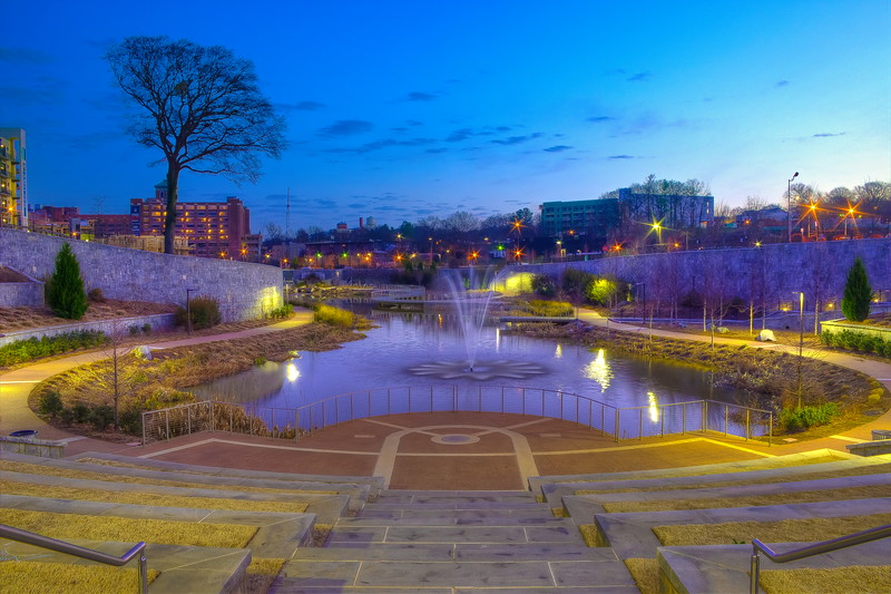 Overlooking The Pond in the Historic Fourth Ward Park