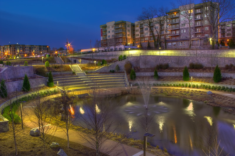 The Pond in the Historic Fourth Ward Park with new condominiums in the background.