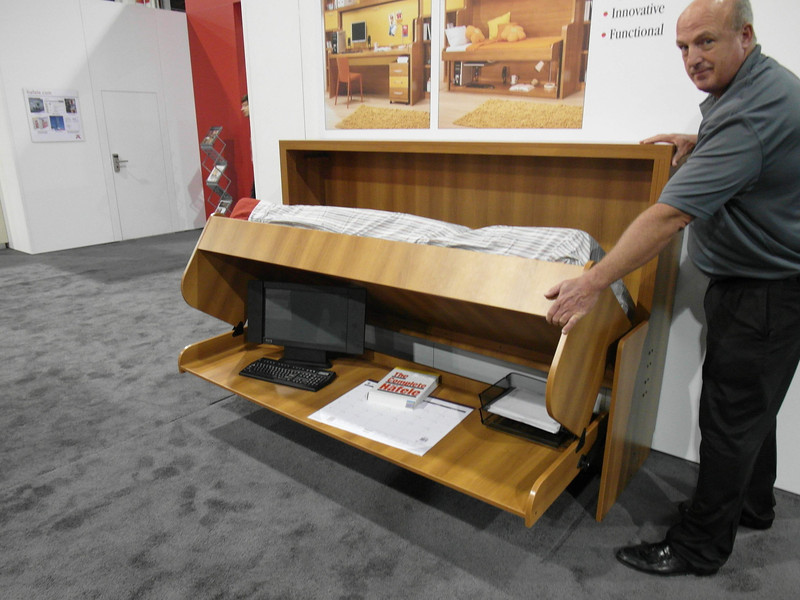 Bed/Desk design, rotating up.