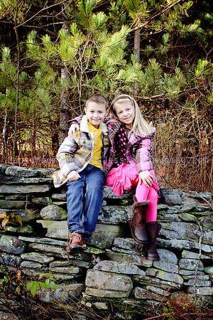 Aubriana and Joey at the Christmas tree farm
