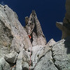 Me on Eichorn Pinnacle (West Pillar direct), photo by Ian Steigmeyer