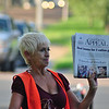 7:43 am - Beth Cattaneo sells papers at Central and East Parkway, her usuall spot