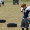 Carter at football mini camp