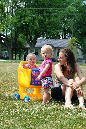 Lyla, Ansley, and Alysa Kirby enjoying a summer day.  Photographer's Name: Morgan  Elbert Photographer's City and State: Alexandria, IN