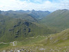 View of 5 Sisters ridge from summit of Ciste Dubh on Saturday 11th August 2012