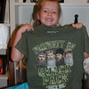 Claire requested a Duck Dynasty shirt.