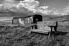 Aeromodellers Hut at Forvie - Black and white
