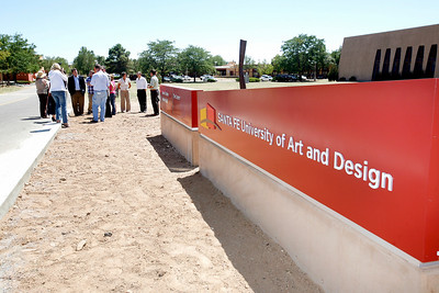 The new sign at the Santa Fe University for Art and Design, formerly the College of Santa Fe, on Aug. 25, 2010. The name will become official on Monday.             Luis Sanchez Saturno/ The New Mexican.
