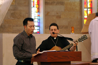 Fr. Vien Nguyen and Fr. Mark Mastin were the music ministers at the Entrance to Novitiate ceremony.