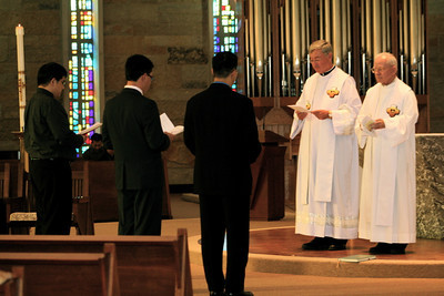 Being received into the novitiate.