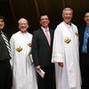 Novice Joseph Vu, Fr. John Czyzynski (novice master), Novice Luis Fernando Orozco Cardona, Fr. Tom Cassidy (provincial superior) and Novice Son Ho.