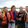 Robbie, Martin, Jason and Gary. Totally soaked, rescued but still celebrating. Well why not it is the Raft Race afterall.