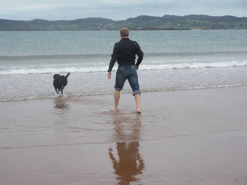 Kya and Richie off for a paddle