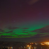 Aurora Australis over  Dunedin. 15 July 2012, 9:41pm. Signal Hill.