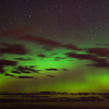 Aurora Australis over  Dunedin. 15 July 2012, 11:53pm. Signal Hill