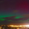 Aurora Australis over  Dunedin Harbour. 15 July 2012, 9:43pm. Signal Hill.