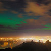 Aurora Australis over  Dunedin. 15 July 2012, 9:13pm. Signal Hill. HDR Photograph