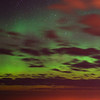 Aurora Australis over  Dunedin. 15 July 2012, 11:54pm. Signal Hill