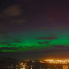 Aurora Australis over  Dunedin Harbour. 15 July 2012, 9:32pm. Signal Hill.