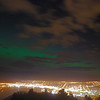 Aurora Australis over  Dunedin. 15 July 2012, 9:22pm. Signal Hill.