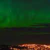 Aurora Australis over  Dunedin. 15 July 2012, 11:08pm. Signal Hill.