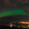 Aurora Australis over  Dunedin. 15 July 2012, 9:18pm. Signal Hill.