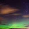 Aurora Australis over  Dunedin. 15 July 2012, 11:23pm. Signal Hill.