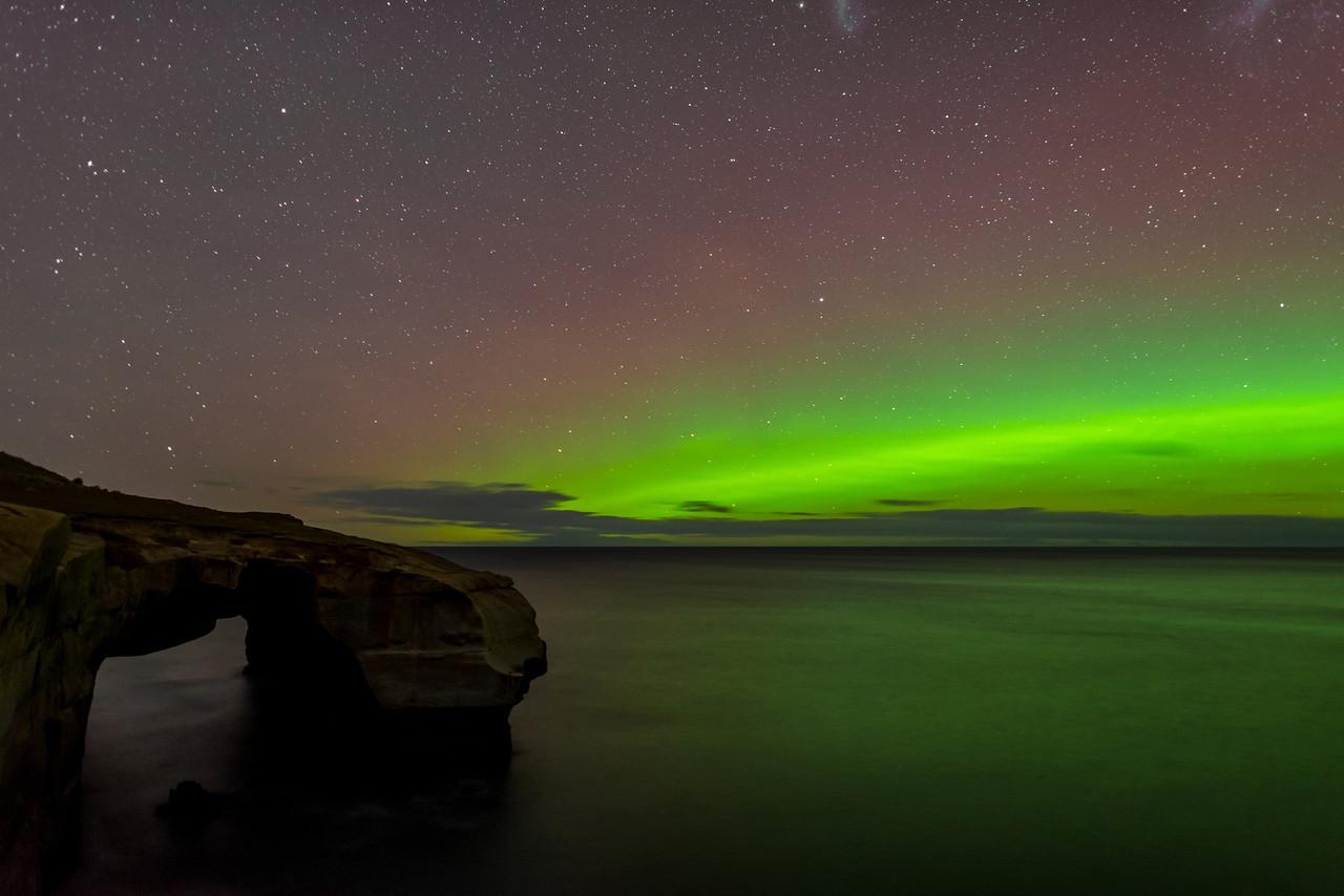 Aurora Australis, Tunnel Beach, Dunedin