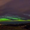 Aurora Australis over Brighton. View from Scroggs Hill