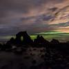 Aurora australis over the Dunedin coastline. 9 September 2015, 8:33pm