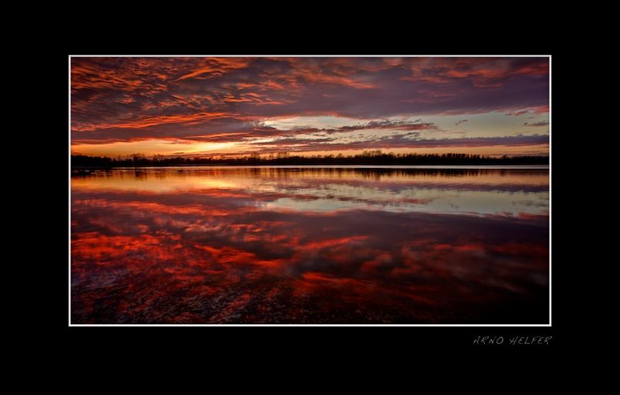Backdraft - Sonnenuntergang in den Rheinauen