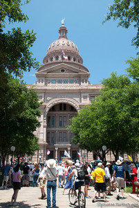 The Austin Capitol Building and the Tea Party.
