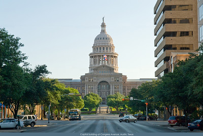 Austin Texas, Capital Building from Congress Avenue