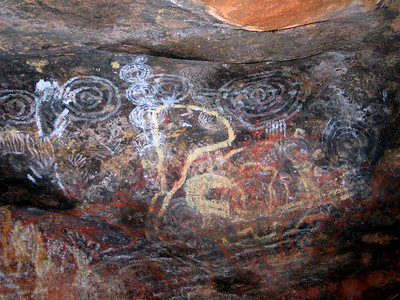 Aboriginal art on Uluru