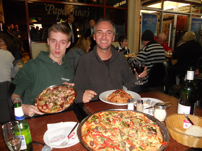We slightly over order with the pasta and large pizza combo!