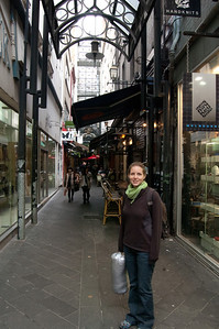 Cute little streets abound in downtown Melbourne.