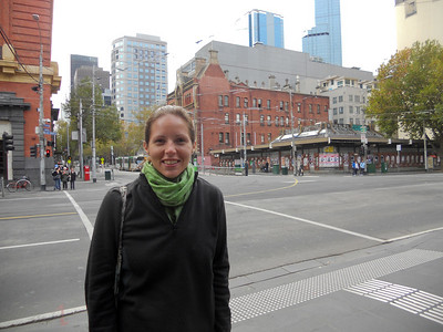 Excited to be in Melbourne (but having to wrap up warm!)