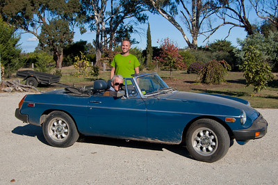 David's MG, back on the road after a bit of tinkering.