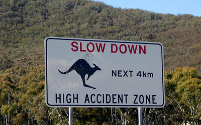 Road Sign in Canberra