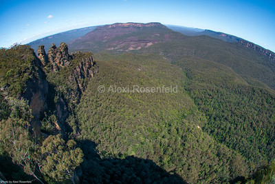 3. The Three Sisters – Blue Mountains, NSW. Taken with a fisheye lens.