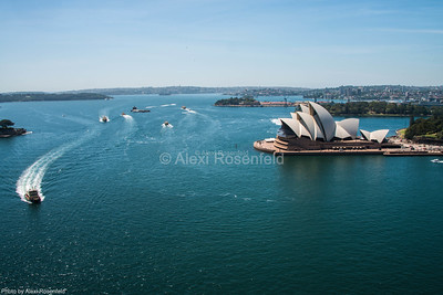 10. Sailboats in the Sydney Harbour on a summer's day.