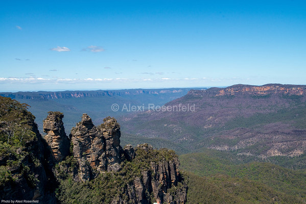 1. Known as the Three Sisters, this unusual rock formation is located in the Blue Mountains of New South Wales.