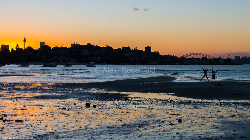 5. Locals enjoying the warm summer weather as the sun sets over the Sydney Harbour.
