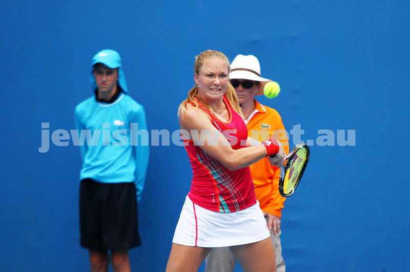 Australian Open Qualifiers 2013. January 11. Julia Glushko(ISR) lost to Tereza Mrdeza (CRO) 6-0 4-6 3-6. Photo: Peter Haskin