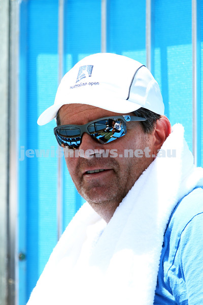Australian Open Qualifiers 2013. January 11. Former Israeli tennis great Amos Mansdorf. Photo: Peter Haskin