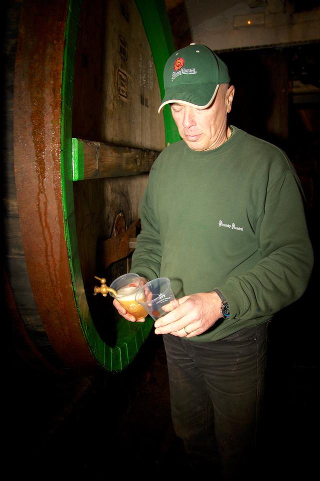 Plzen, Pilsner Urquell brewery, beer taste