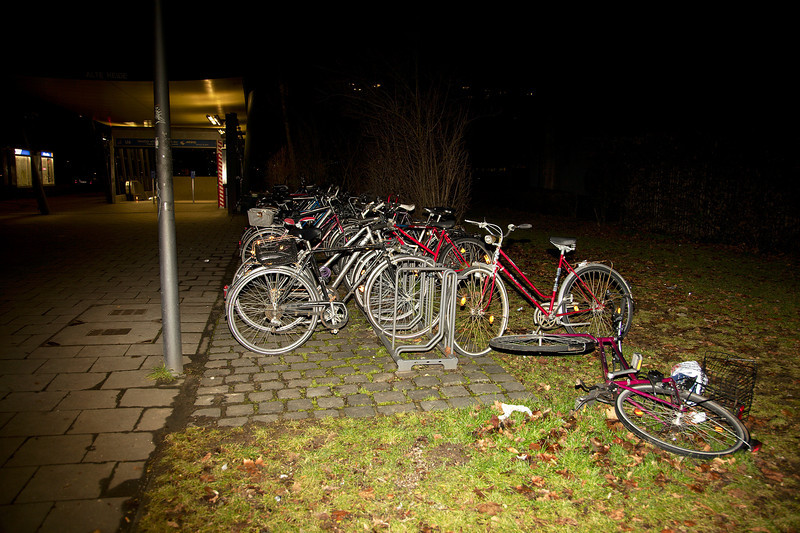 Munich, bike parking near subway station